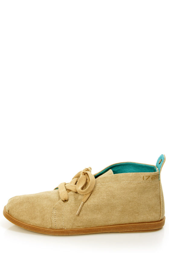 Blowfish Gilly Natural Cozumel Linen Lace-Up Flats at Lulus.com!