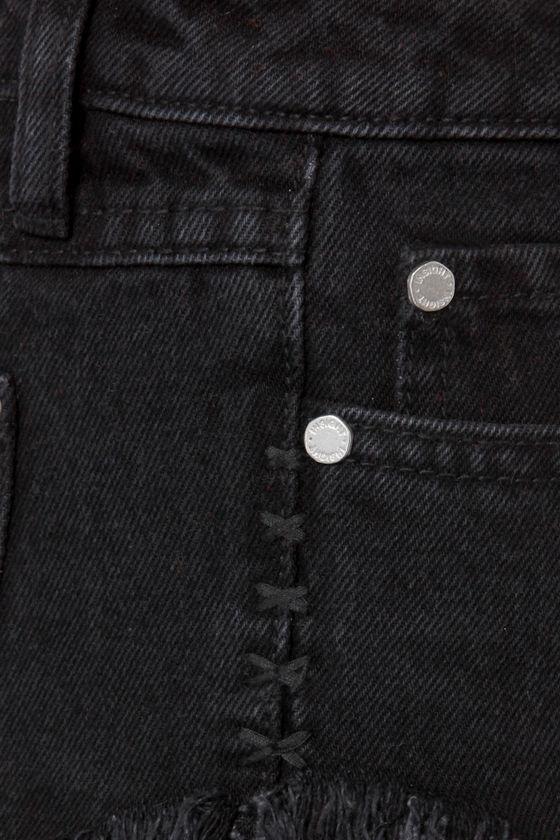 Insight Dipper Floyd Black Cutoff Jean Shorts at Lulus.com!