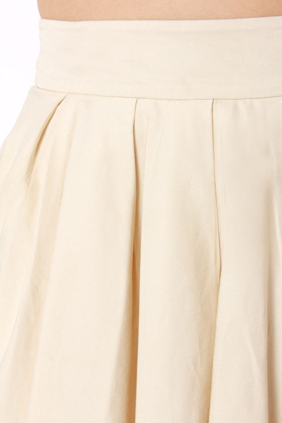 LULUS Exclusive Charm School Light Beige Mini Skirt at Lulus.com!