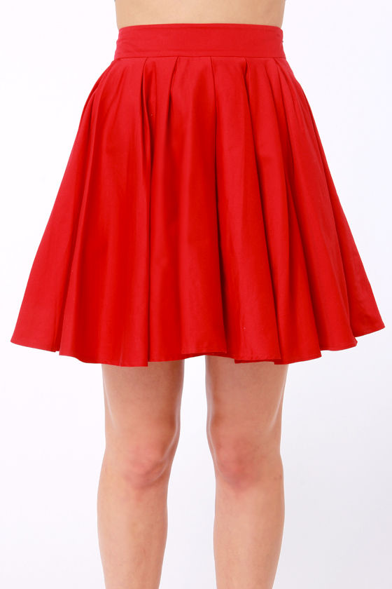 LULUS Exclusive Charm School Red Mini Skirt at Lulus.com!