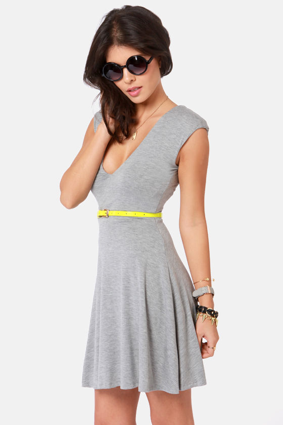 V-ing is Believing Grey Dress at Lulus.com!
