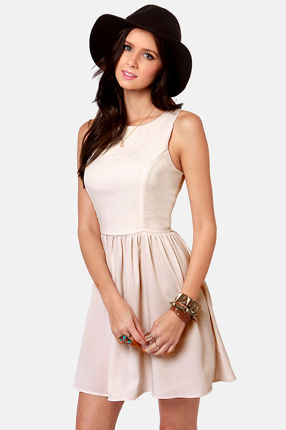 Countess of Cute Cream Dress at Lulus.com!