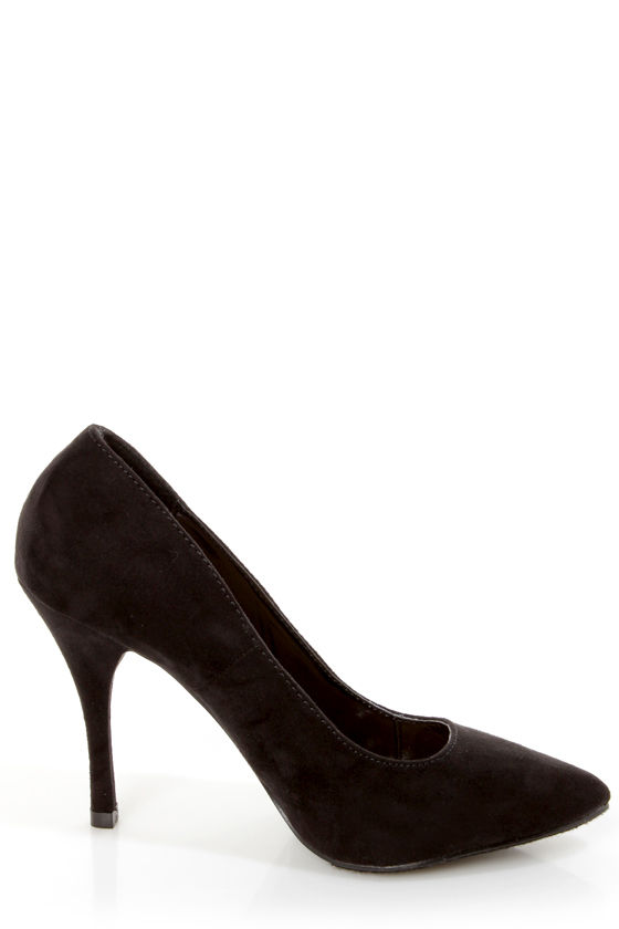 Holly 41 Black Pointed Pumps at Lulus.com!