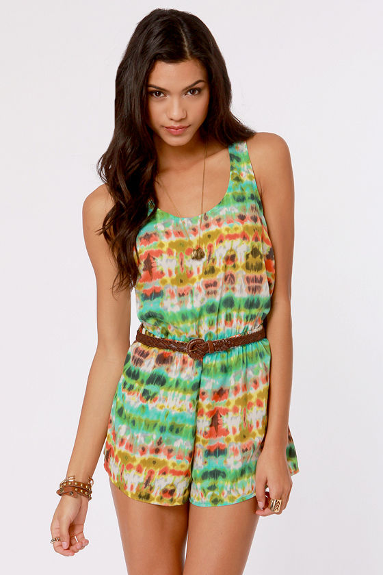 The Way We Blur Print Romper at Lulus.com!