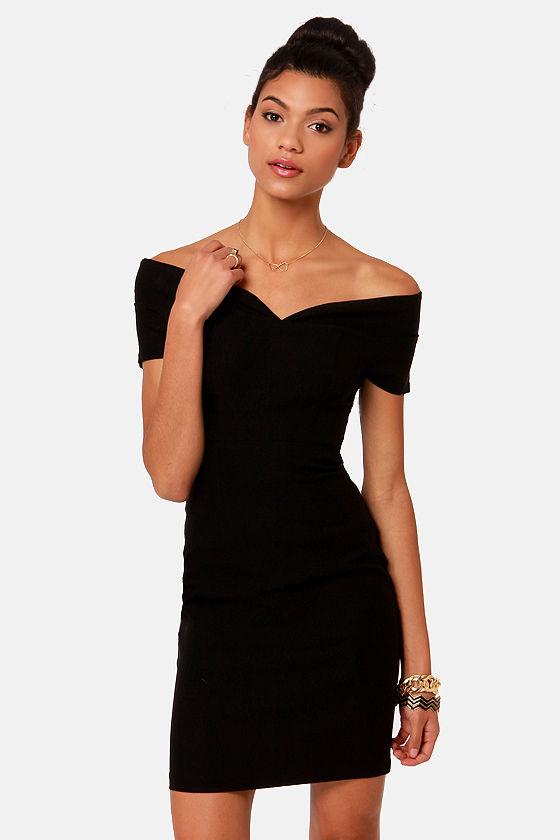 e27ea761ee75 Hot Black Dress - Off-the-Shoulder Dress -  41.00
