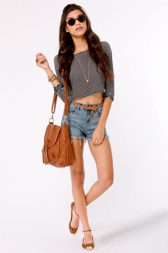 Blank NYC The Solid Gold Cutoff Jean Shorts at Lulus.com!