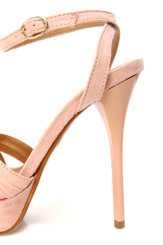 Cherry 2 Blush Ruched Strappy Platform Dress Sandals at Lulus.com!