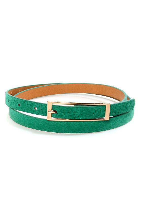 Basic Teal Skinny Belt at Lulus.com!