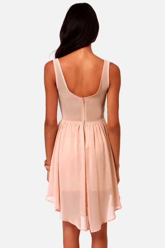 Appli-que Sera Sera Blush Pink Lace Dress at Lulus.com!