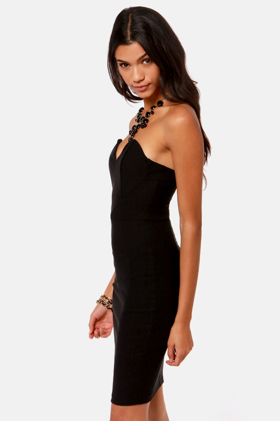 One Heart Wonder Strapless Black Dress at Lulus.com!