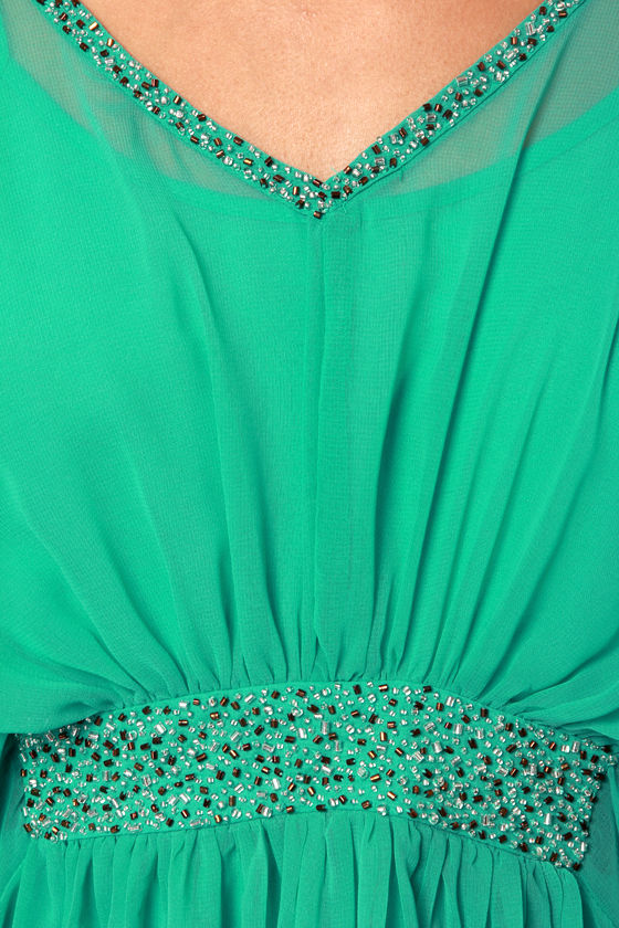 Dressy's Girl Sea Green Beaded Dress at Lulus.com!