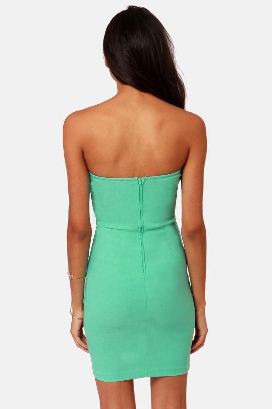 Bow Down Strapless Mint Green Dress at Lulus.com!