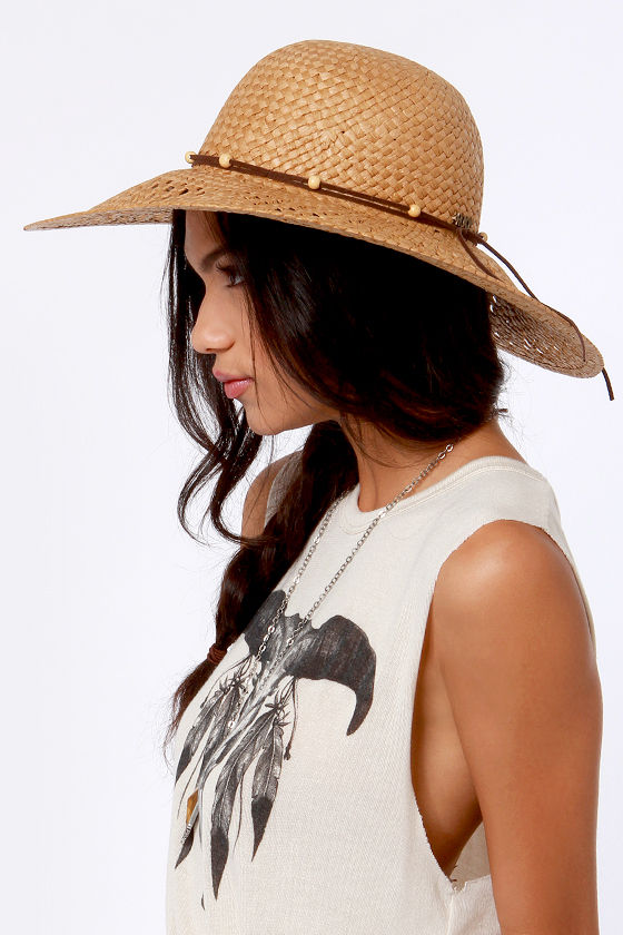 Roxy Shady Days Tan Straw Hat at Lulus.com!
