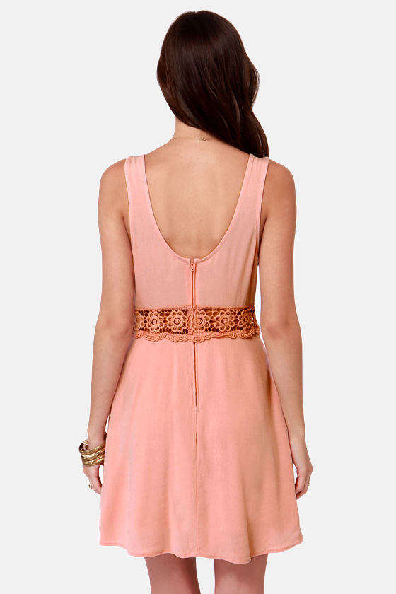 I Mid You Not Blush Pink Lace Dress at Lulus.com!