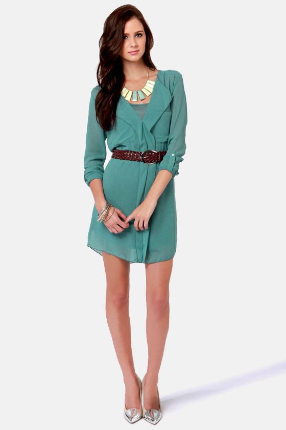 Costa Blanca Lazy Days Blue Shirt Dress at Lulus.com!