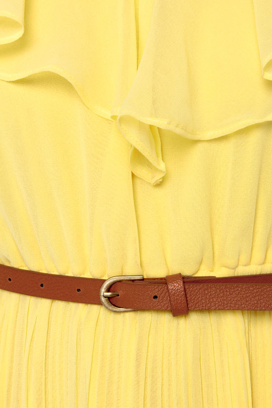 Meringue-nam Style Belted Yellow Dress at Lulus.com!
