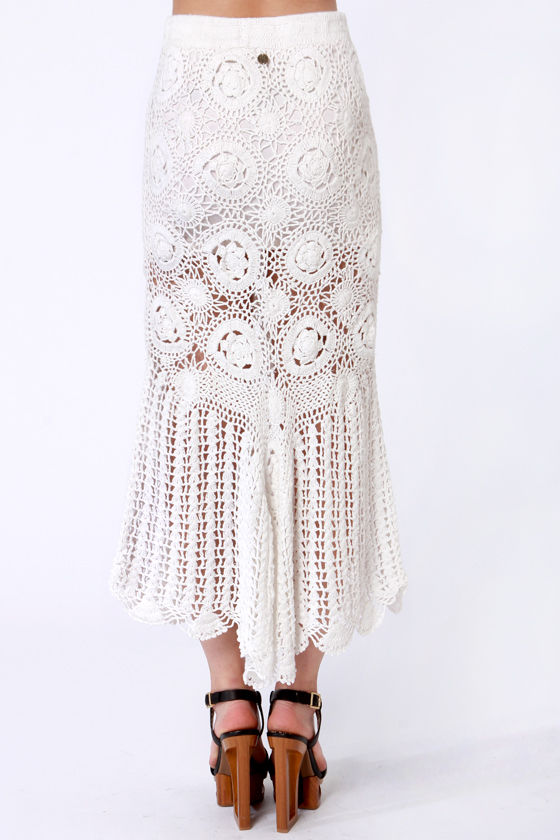billabong with skirt white skirt crochet skirt