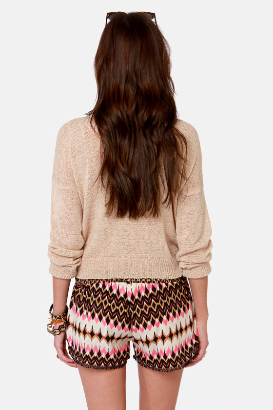 Fun and Games Black and Pink Print Shorts at Lulus.com!