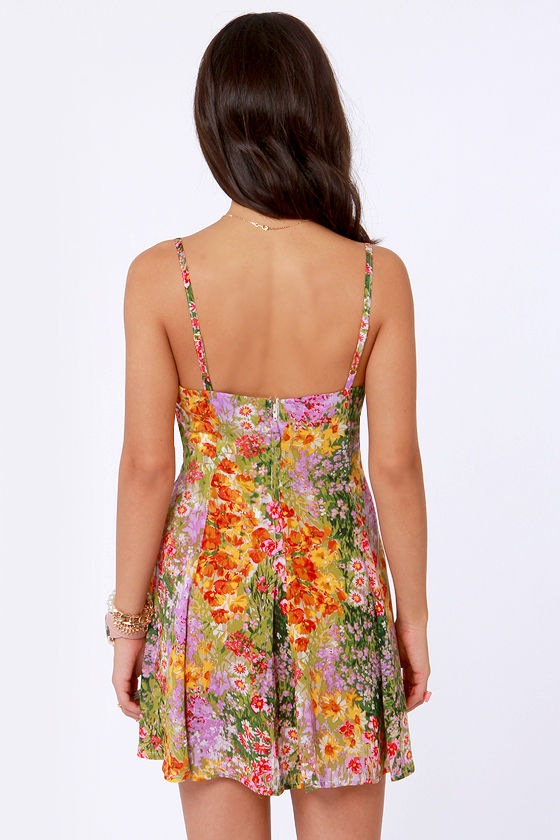 Mink Pink Paint by Numbers Floral Print Sundress at Lulus.com!