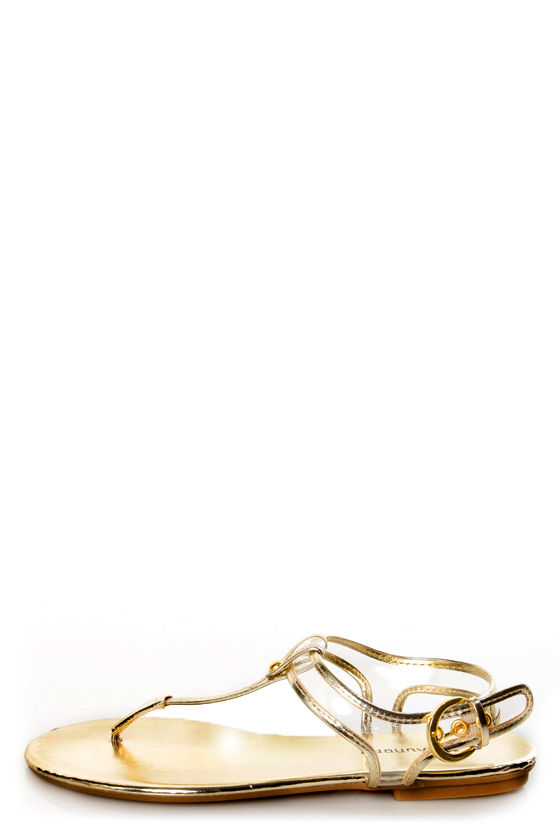 cb4bb39f6 Chinese Laundry Natalia Clear and Light Gold Thong Sandals -  47.00