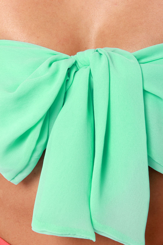 Havana Cabana Mint Green Bandeau Top at Lulus.com!