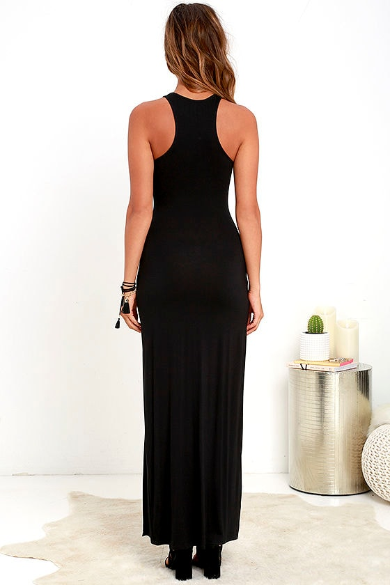 Stem Spells Black Racerback Maxi Dress at Lulus.com!