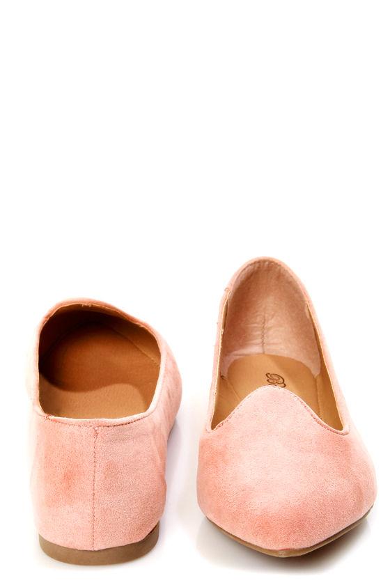 Velma 01 Blush Pink Smoking Slipper Pointed Flats at Lulus.com!