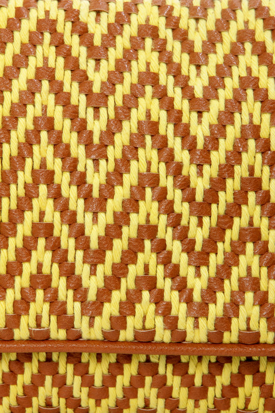 Big Buddha Laila Yellow and Brown Woven Purse at Lulus.com!