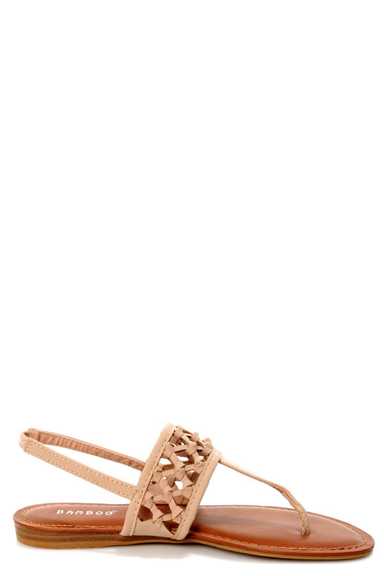 Bamboo Morning 74 Nude Knotted Thong Sandals at Lulus.com!