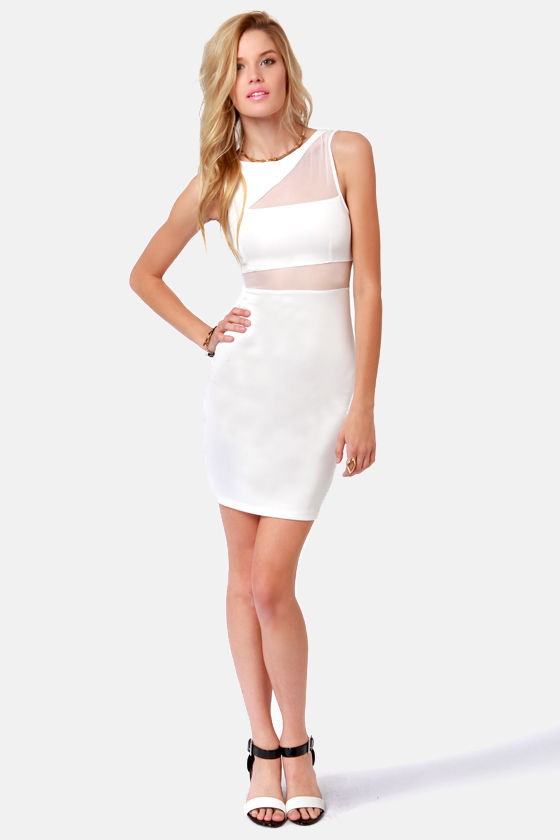 From See to See Cutout Ivory Dress at Lulus.com!