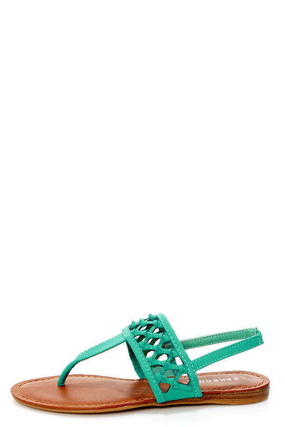 Bamboo Morning 74 Sea Green Knotted Thong Sandals at Lulus.com!