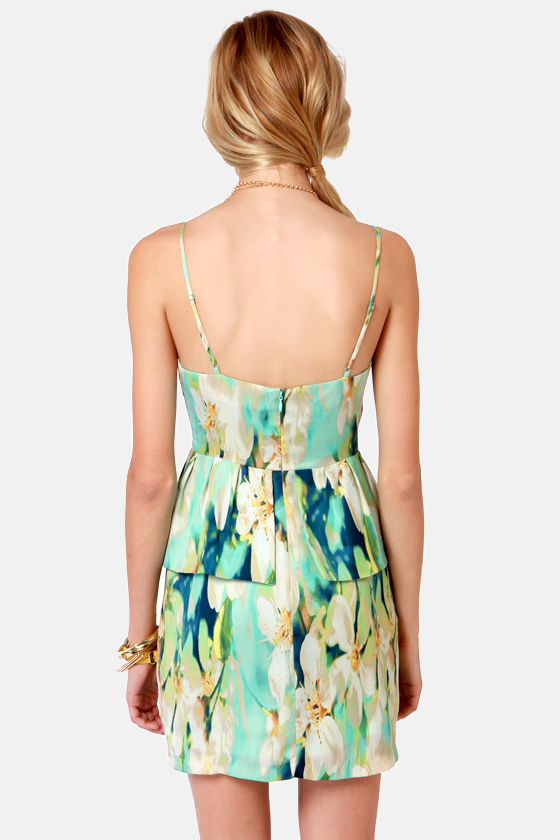 BB Dakota Debralyn Mint Floral Print Dress at Lulus.com!