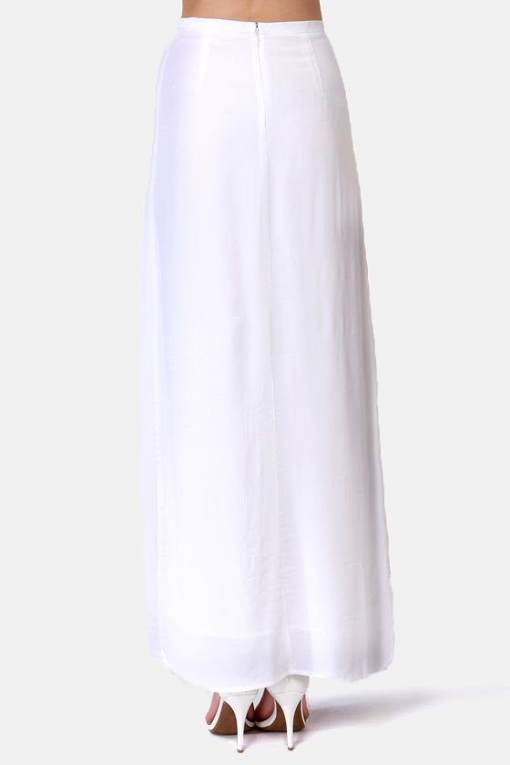 BB Dakota McKinley Ivory Maxi Skirt at Lulus.com!