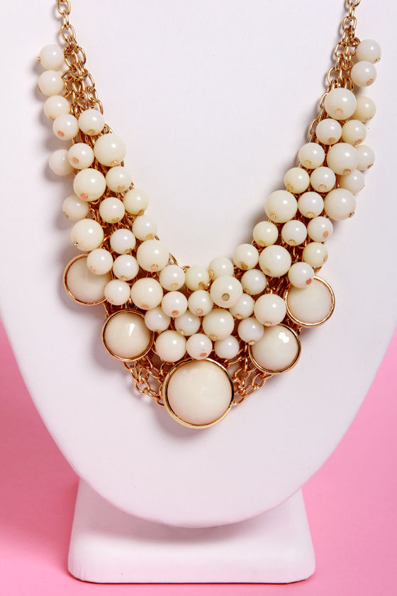 Bubble Vision Ivory Statement Necklace at Lulus.com!