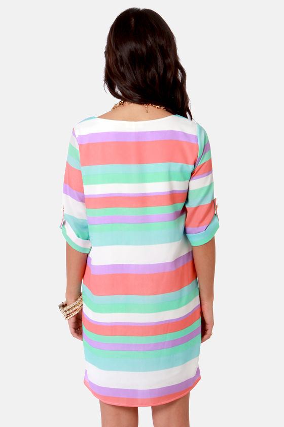 Full Streamers Ahead! Striped Shift Dress at Lulus.com!
