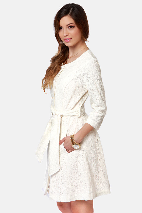 Darling Mylie Ivory Lace Jacket at Lulus.com!