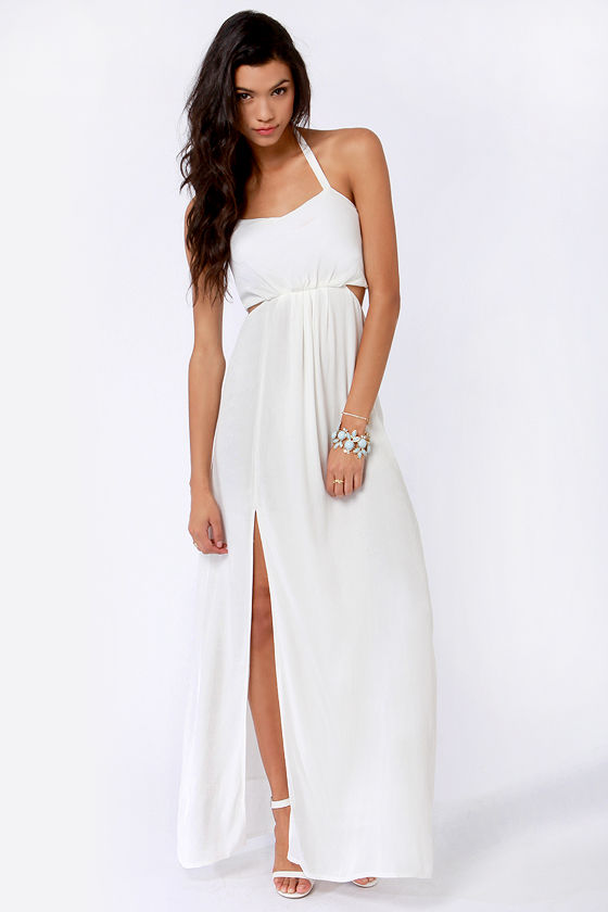 Aryn K Hail A Maxi Ivory Maxi Dress at Lulus.com!