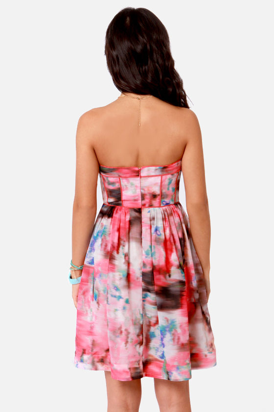 Aryn K Hyperspace Hot Pink Print Silk Dress at Lulus.com!