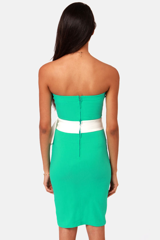 LULUS Exclusive Stunning Side Up Strapless Sea Green Dress at Lulus.com!