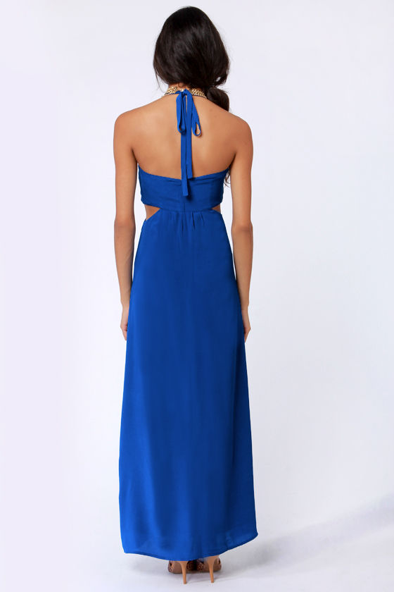 Aryn K Hail A Maxi Blue Maxi Dress at Lulus.com!