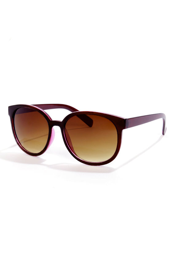 Money Lens-ers Dark Purple Sunglasses at Lulus.com!