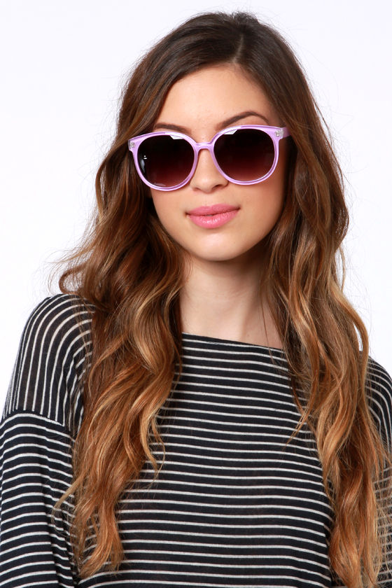 Money Lens-ers Lavender Sunglasses at Lulus.com!
