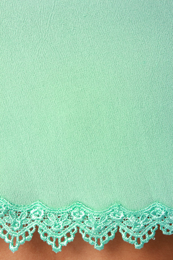 Take a Chance Mint Green Lace Tank Top at Lulus.com!