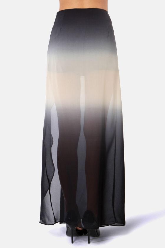 charcoal grey skirt ombre skirt maxi skirt 45 00