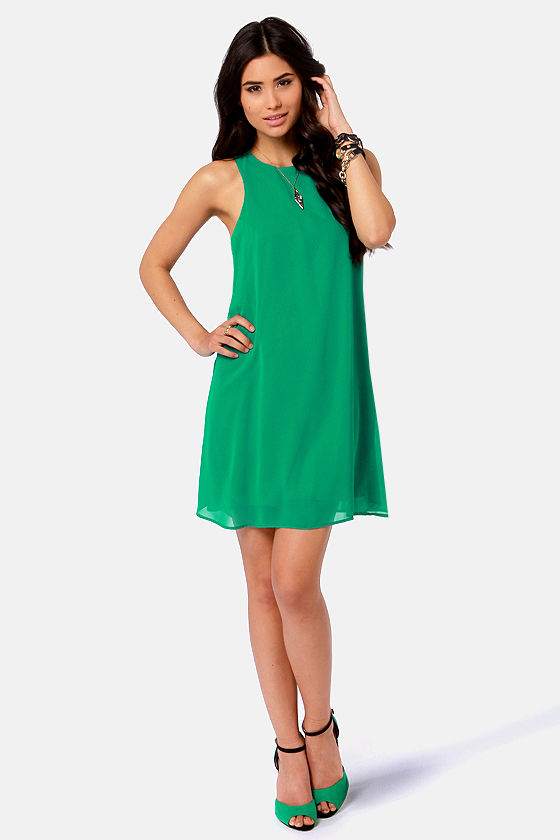 Chiff-On the Run Green Dress at Lulus.com!