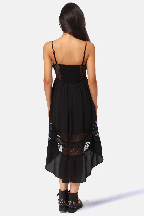 Lira Racey Lacey Black Lace Dress at Lulus.com!