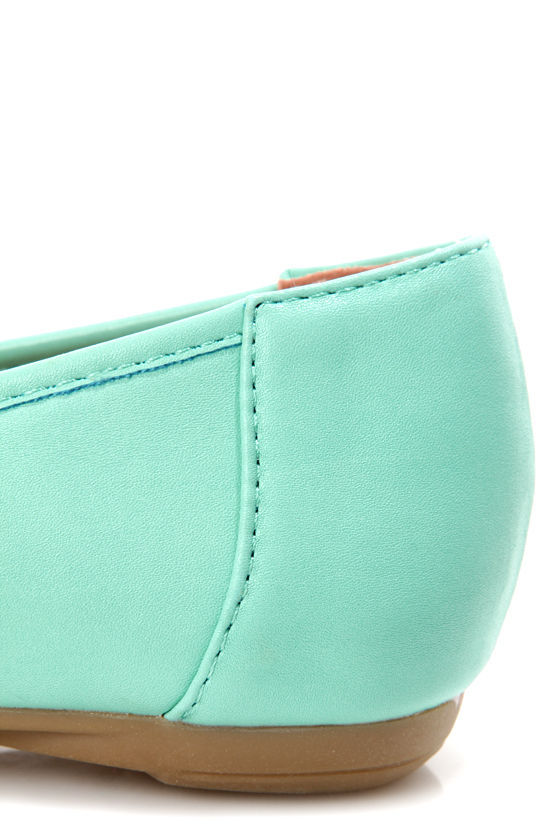Leila 35 Sea Green Medallion Ballet Flats at Lulus.com!