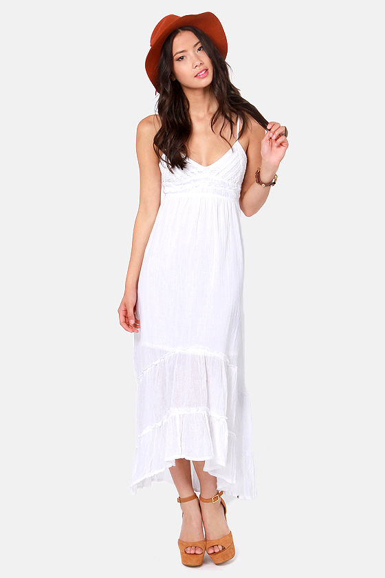 Billabong Railroad Run White Maxi Dress at Lulus.com!