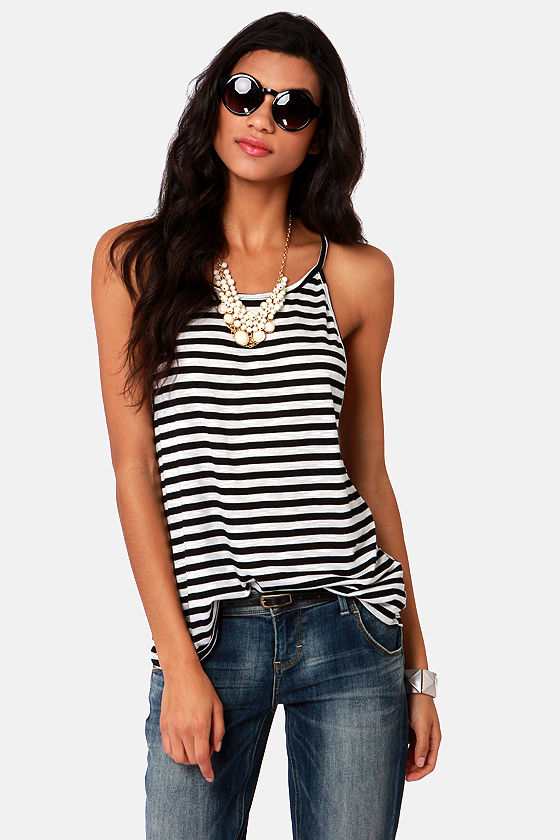 Find high quality Black And White Striped Racerback Tank Tops at CafePress. Shop a large selection of custom t-shirts, longsleeves, sweatshirts, tanks and more.