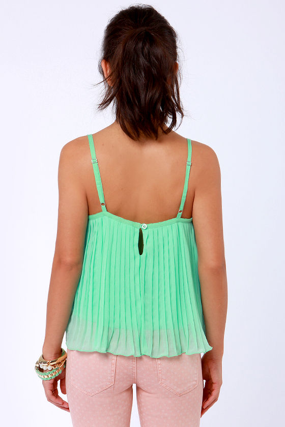 Roxy Want to Stay Mint Green Tank Top at Lulus.com!